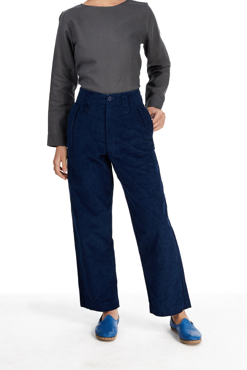 Sailor Pant in Indigo Corduroy