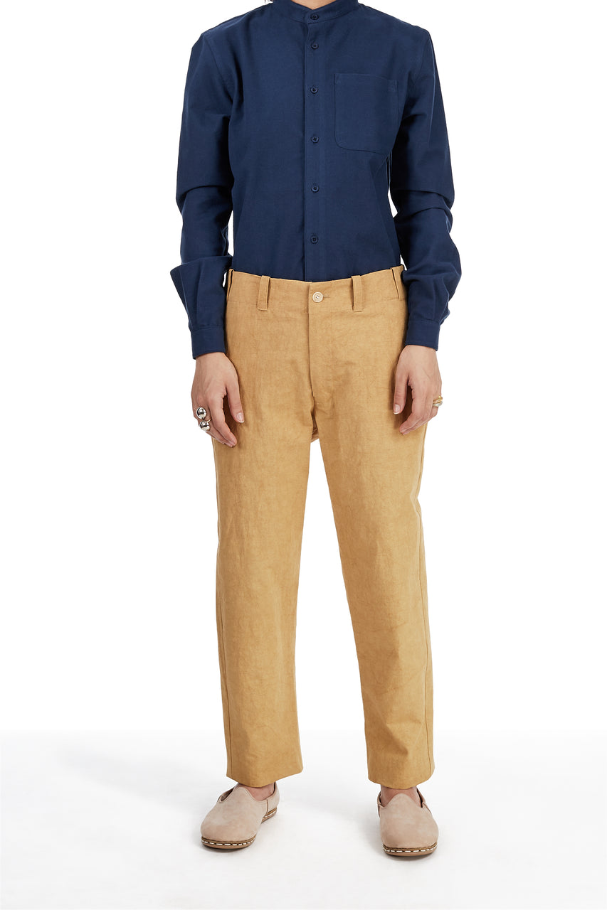 Baseball Pant in Mustard Canvas