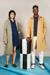 Trench Coat in Artichoke Canvas