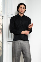 Modern French Pullover in Sumi Black