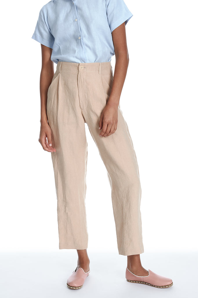 Linen Pant in Sand