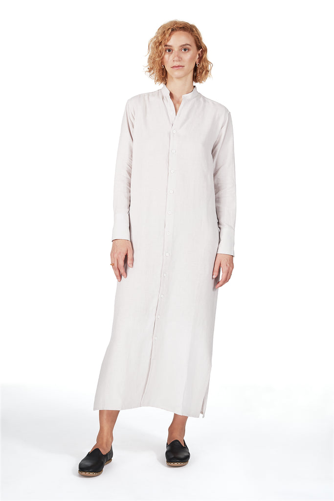 Tunic Dress in Linen Glacial Pink