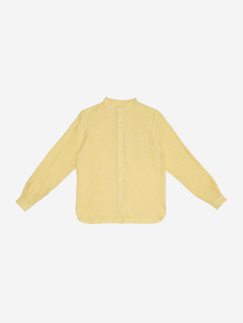 Monk Shirt in Lemon Linen