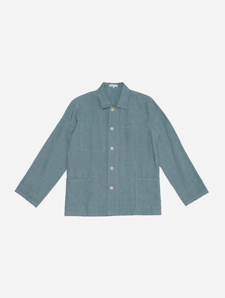 Chore Coat in Steel Blue Linen