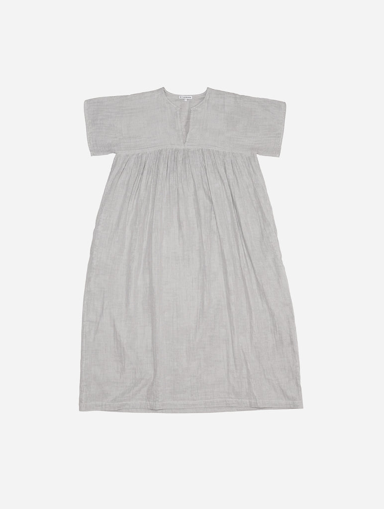 Smock Dress in Striped Gauze