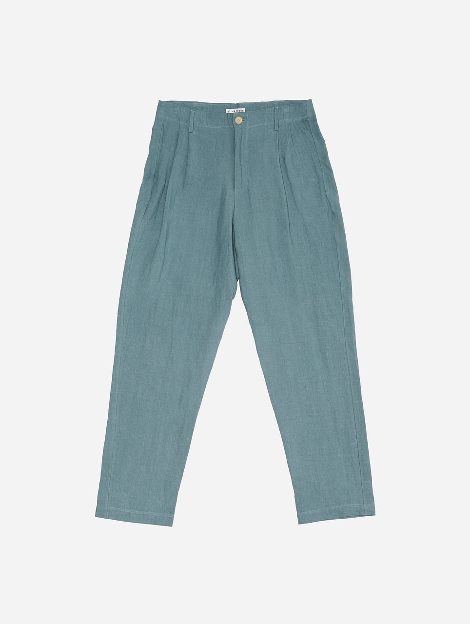 Double-Pleat Pant in Steel Blue Linen