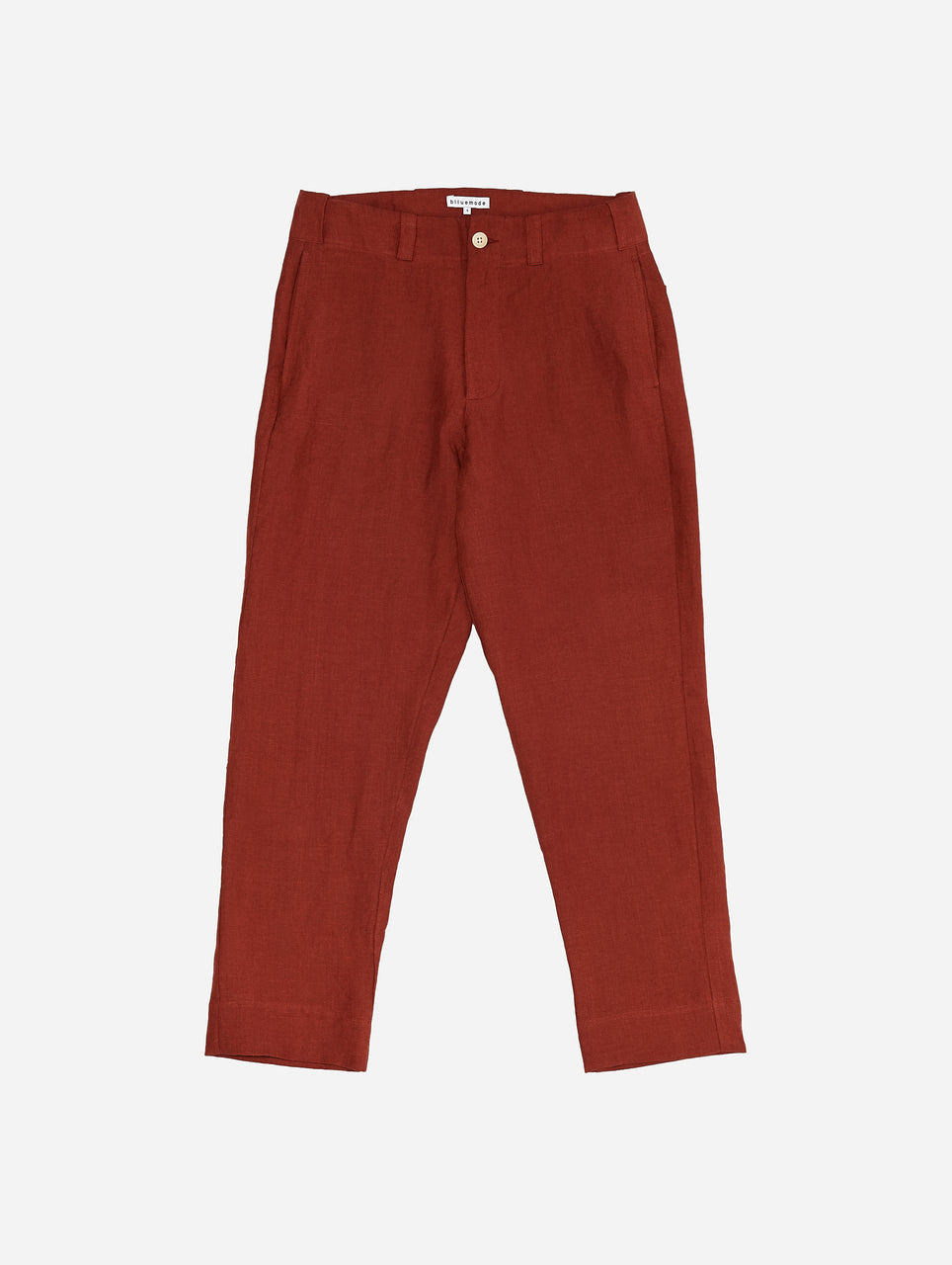 Baseball Pant in Rust Linen