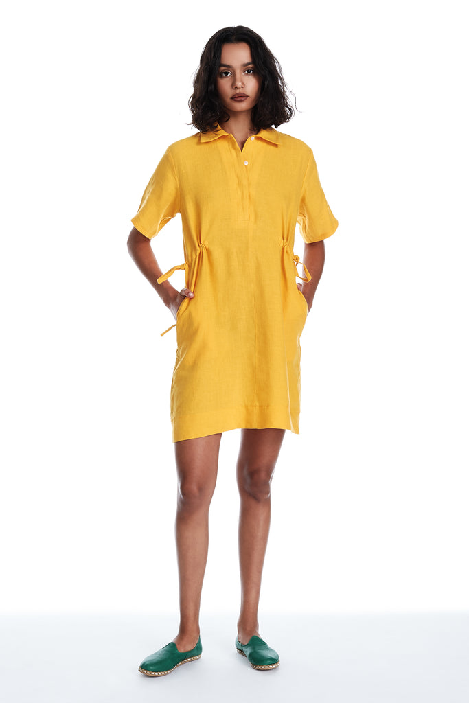 Safari Dress in Yolk