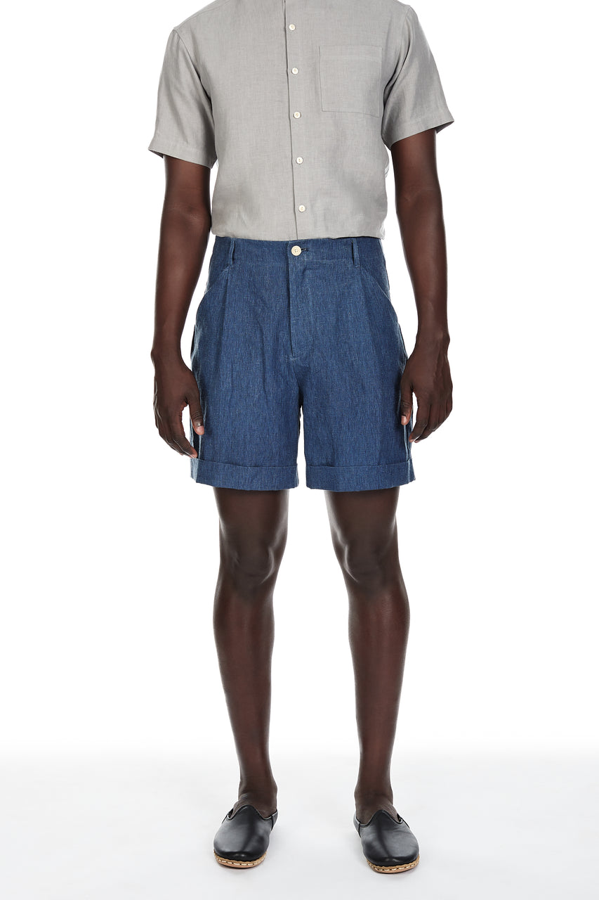 Camp Shorts in Indigo