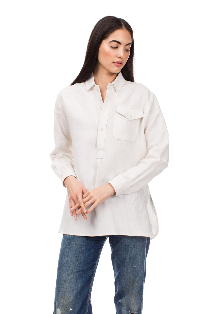 Oyster Linen French Shirt