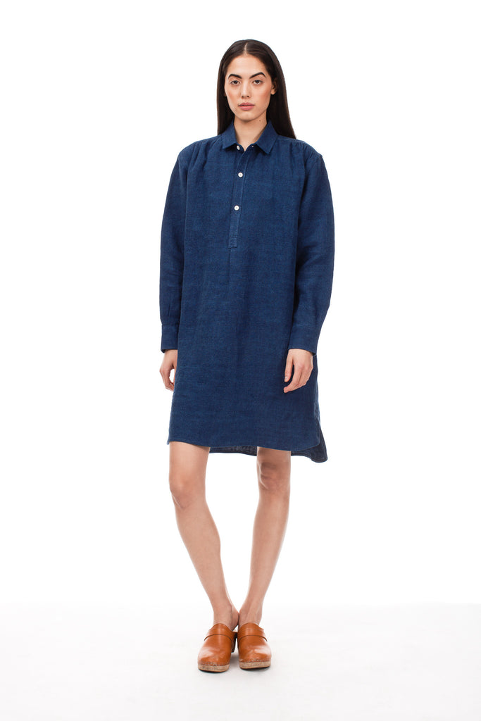 True Indigo French Dress