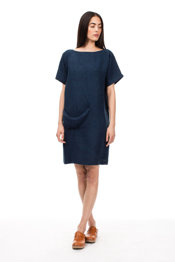 Dark Indigo Soft Pocket Dress