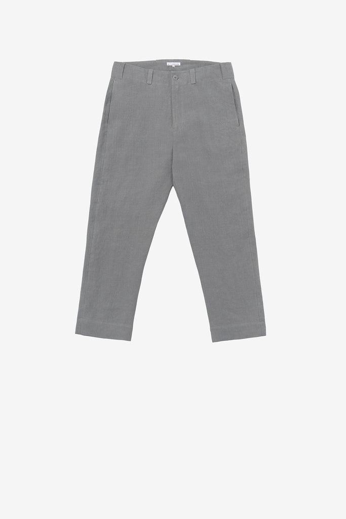 Baseball pant in flint grey linen