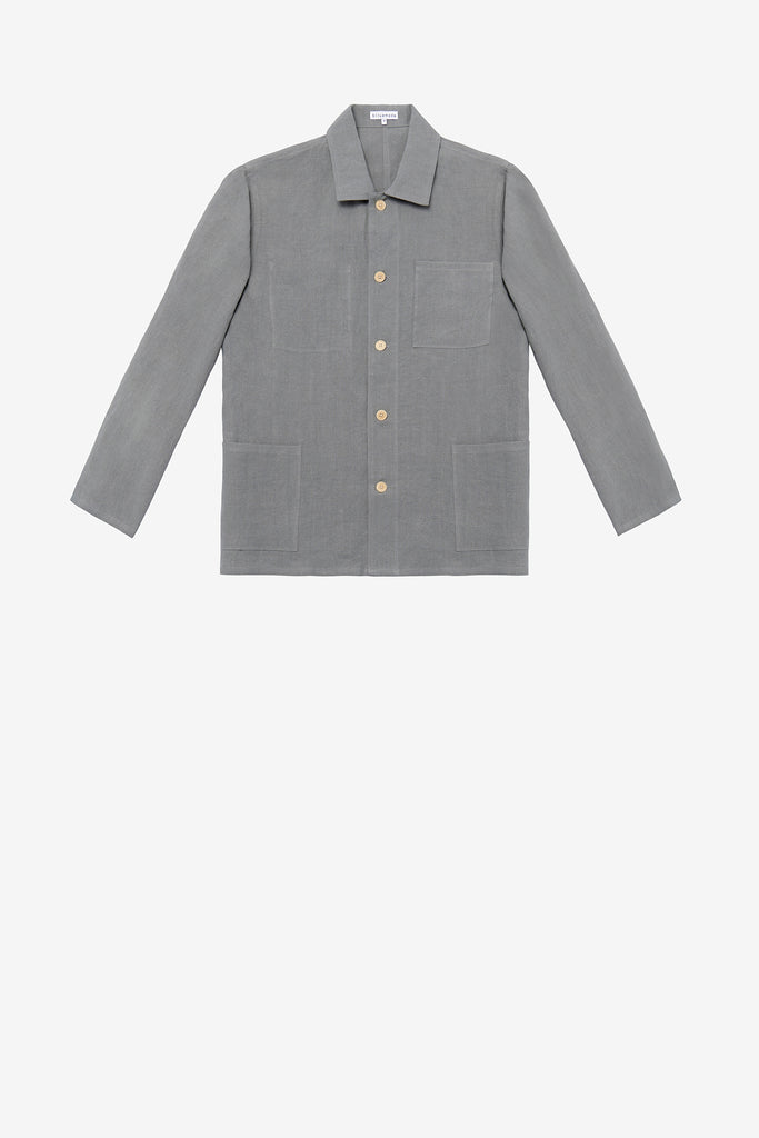 Chore coat in flint grey linen