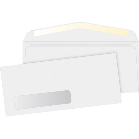 No. 10 White Business Envelopes -Window - PaperFormsandMore