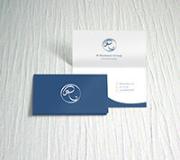 Enviro Uncoated Folded Business Cards - PaperFormsandMore