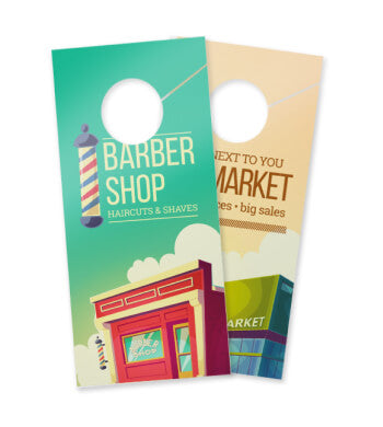 14pt + Matte Finish Door Hangers - PaperFormsandMore