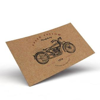 Kraft Business Cards (Available with white ink!) - PaperFormsandMore