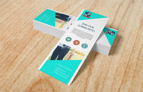14pt + Matte Finish Bookmarks - PaperFormsandMore