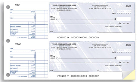 2-to-a-page Cheques - PaperFormsandMore