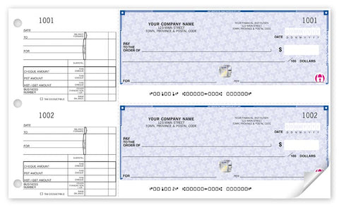 2-to-a-page High Security Cheques - PaperFormsandMore