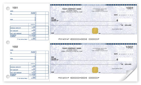 2-to-a-page Security Cheques - PaperFormsandMore
