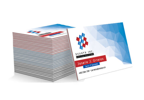 Super Thick Luxury Business Cards with Coloured Edges - PaperFormsandMore