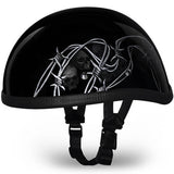 Novelty Helemt | Novelty Motorcycle Helmet Eagle Novelty Helmet with Barbed Skulls: Size 2XL