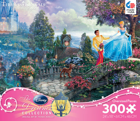 "Ceaco Thomas Kinkade Disney Dreams COLLECTION ""Cinderella Wishes Upon A Dream"" 300 Piece Jigsaw Puzzle MADE IN USA"