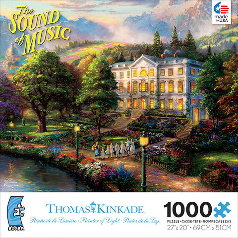 "Ceaco The Sound of Music Thomas Kinkade Movie Classic 1000 Piece Jigsaw Puzzle, 27"" X 20"""