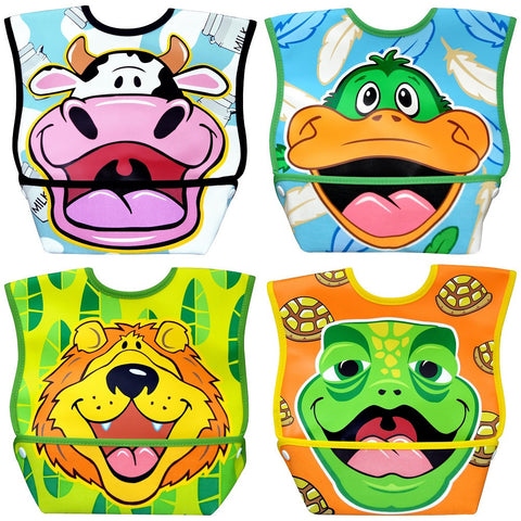 Dex Baby Dura-bib Big Mouth Bib (Cow, Duck, Lion, Turtle)