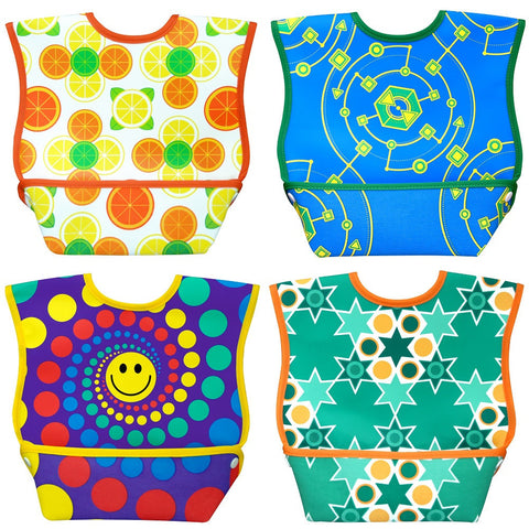 Dex Baby Dura-bib Big Mouth Bib 6-24 Months (Fruit, Happy, Map, Stars)