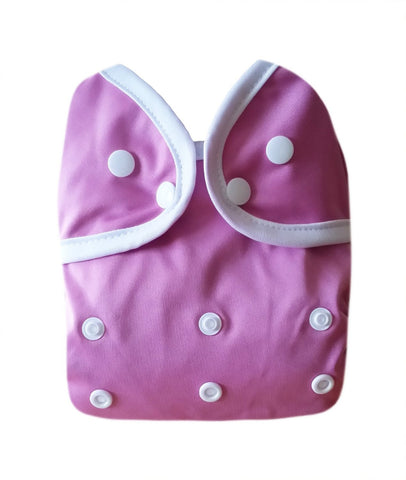 Kawaii Baby One Size Happy Leak-free Snap Cloth Diaper Cover for Prefolds Pink