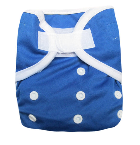 Kawaii Baby One Size Happy Leak-free Velcro Cloth Diaper Cover for Prefolds Blue