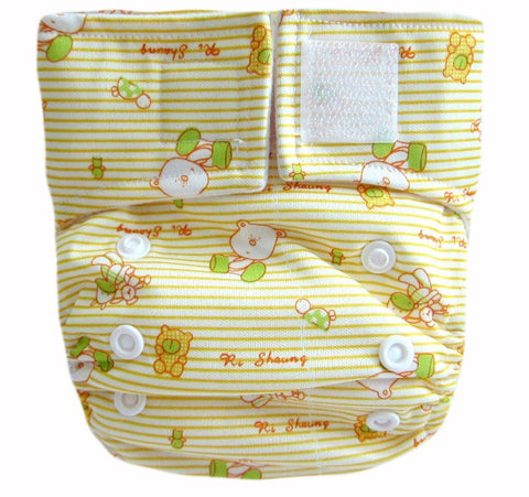 "Kawaii Baby Newborn Cloth Diaper 6-22 Lb. With 2 Microfiber Inserts "" Comfy Baby """