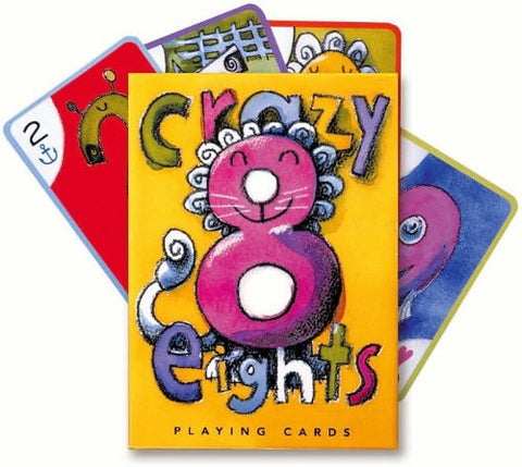 eeBoo Crazy Eights Playing Cards