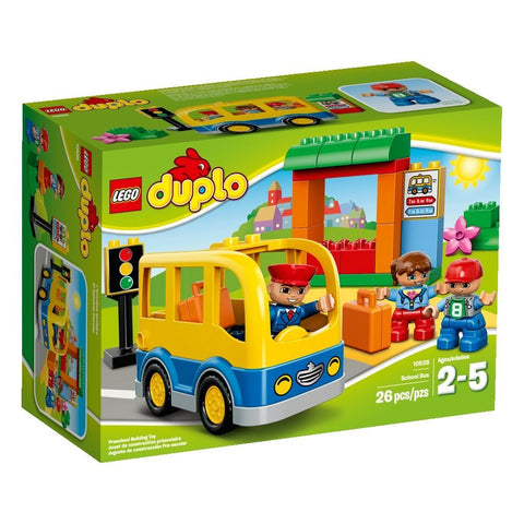 LEGO DUPLO Town School Bus Building Toy