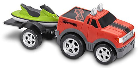 Kid Galaxy Soft and Squeezable Pull Back Ford F150 with Trailer and Jet Ski