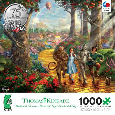 Ceaco Thomas Kinkade - Follow the Yellow Brick Road - Wizard of Oz - 1000 Piece Jigsaw Puzzle