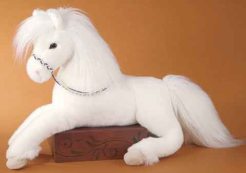 Plush Grace White Horse 22""