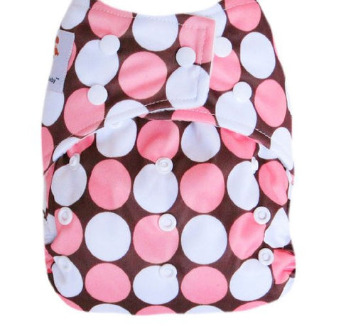 "Kawaii Baby Good Night Heavy Wetter One Size Cloth Diaper with 2 Microfiber Inserts "" Mod Circle """