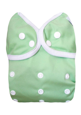 Kawaii Baby One Size Happy Leak-free Snap Cloth Diaper Cover for Prefolds Lime