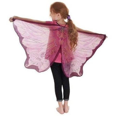 Pink Fairy Wings with Glitter