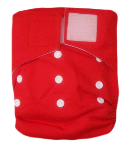 "Kawaii Baby Heavy Duty One Size Velcro Cloth Diaper W/2 Inserts ""Red"""