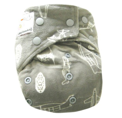 "Kawaii Baby Bamboo Charcoal One Size Cloth Diaper with 2 Four Layers Inserts "" Rocket """