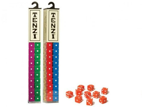 Tenzi 2 Pack for 8 Players - Assorted Colors - 8 Sets of Ten Dice