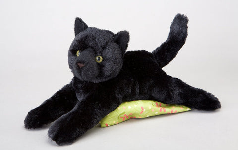 Plush Tug Black Cat 12""