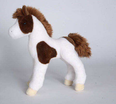 "Windy Brown and White Paint Faol 10"" by Douglas Cuddle Toys"