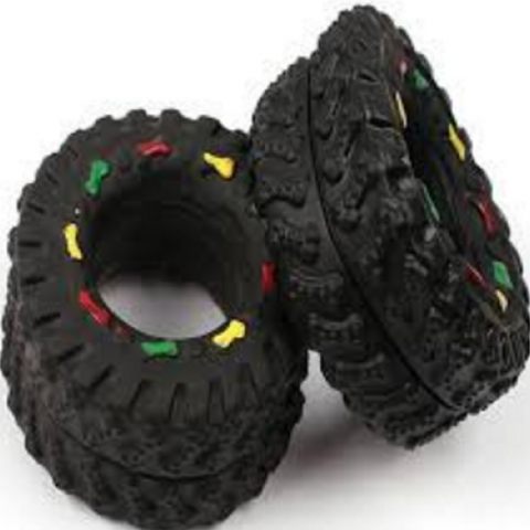 Animal Sounds Black Tire Pet Toy