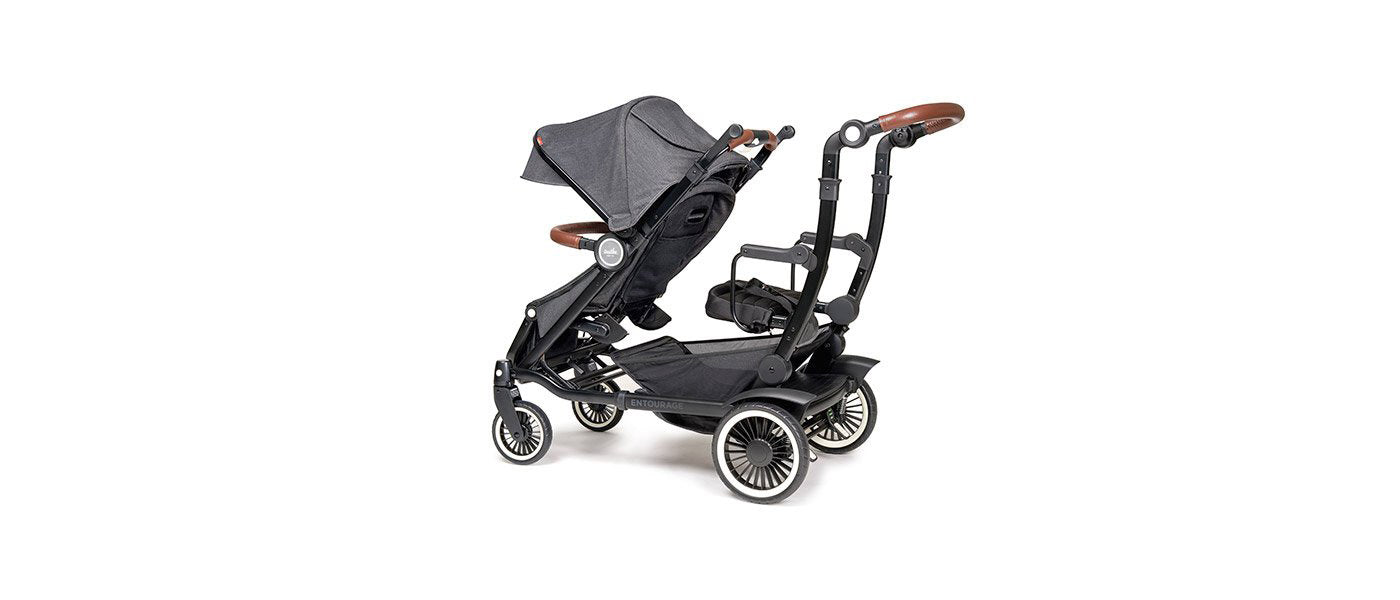 ENTOURAGER SIT STAND DOUBLE STROLLER Austlen Baby Co